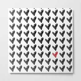 HEARTS ALL OVER PATTERN II Metal Print