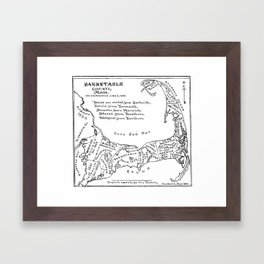 Vintage Map of Cape Cod (1890) Framed Art Print