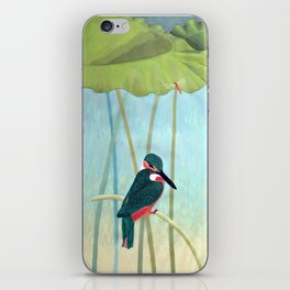 Kingfisher and Lotus iPhone Skin