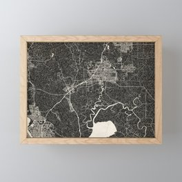 Fairfield map California Ink lines Framed Mini Art Print