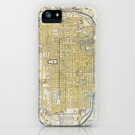 Vintage Map of Kyoto Japan (1696) iPhone Case