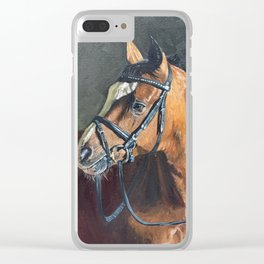 Horse, innocence Clear iPhone Case