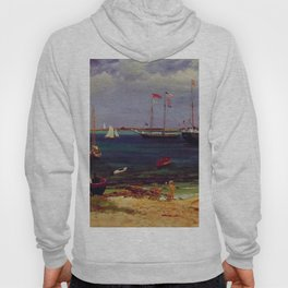 Nassau Harbor By Albert Bierstadt | Reproduction Painting Hoody