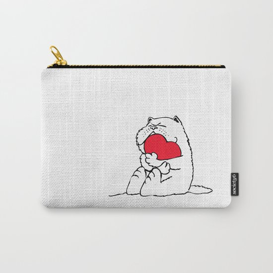 Persian Cat Heart Carry-All Pouch