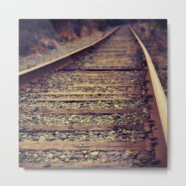 Old Rail Metal Print