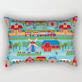 Around Town Bright Rectangular Pillow