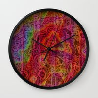 bands Wall Clocks featuring Bands II by RingWaveArt