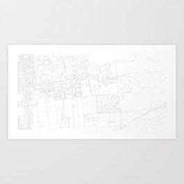 Abstract Map of UC Berkeley Campus Art Print