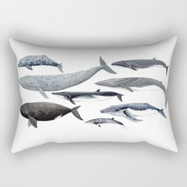 Whales and right whale Rectangular Pillow