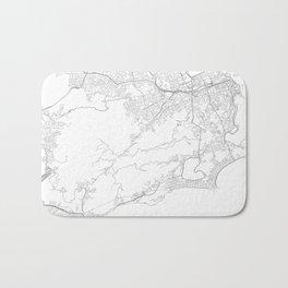 Rio de Janeiro, Brazil Minimalist Map Bath Mat
