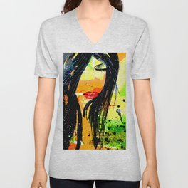 Dream of a woman on a summer night Unisex V-Neck