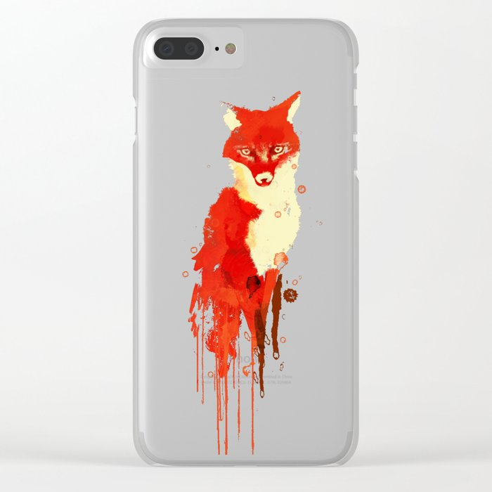 The fox, the forest spirit Clear iPhone Case