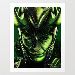 Loki-God Art Print