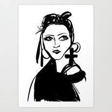 M with cross Art Print