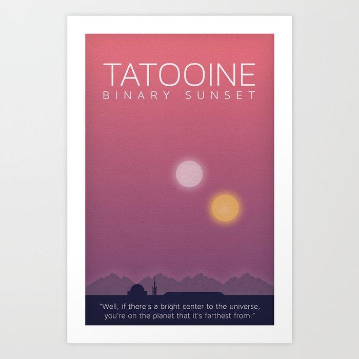 Minimal Poster Series Tatooine Wars Star Art Print By