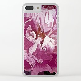 A Passion for Flowers Clear iPhone Case