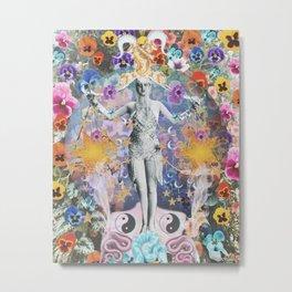 The Lizard Queen Libra Zodiac Astrology Art Print Metal Print