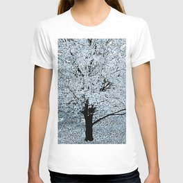 TREES WHITE ABSTRACT T-shirt