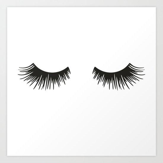 Closed Eyelashes by theteemachine