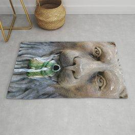 Lion Fountain Rug