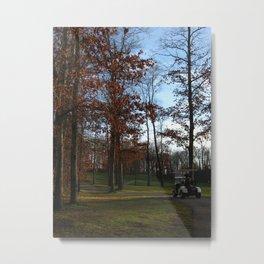 Autumn Golfing Metal Print