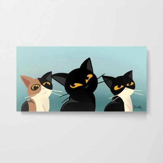Three cats Metal Print