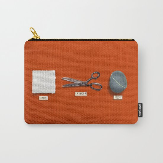 Paper, Scissors, Stone Carry-All Pouch
