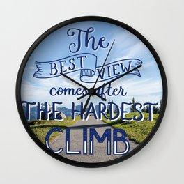 The Hardest Climb Wall Clock