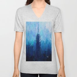 Empire State Building - New York City - Cityscape Wall Art, Poster, Impressionism Paintings, Prints Unisex V-Neck