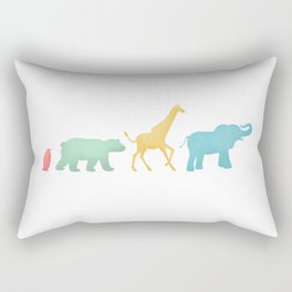 Baby Animal Silhouettes Rectangular Pillow