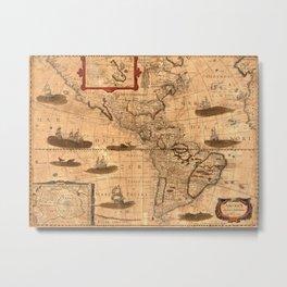 Map Of America 1641 Metal Print