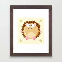 Hedgehog form the circle series Framed Art Print