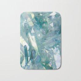 Sparkling Light Blue Crystal Shards Bath Mat