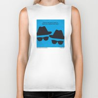 blues brothers Biker Tanks featuring No012 My Blues brothers minimal movie poster by Chungkong