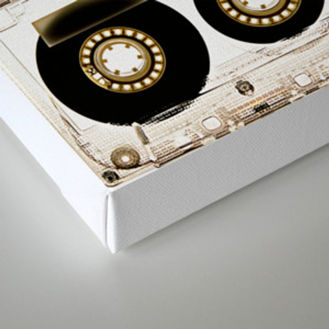 Retro classic vintage transparent mix cassette tape Canvas Print