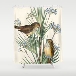 Little Birds and Flowers III Shower Curtain