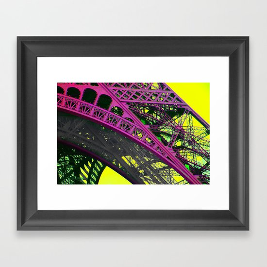 purple paris Framed Art Print