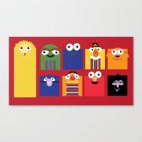 sesame street Canvas Prints featuring Sesame street by Maria Jose Da Luz