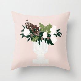 Vase no. 5 with Wedding Floral Arrangement Throw Pillow