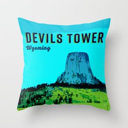 Devils Tower Wyoming Throw Pillow