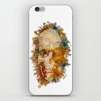 psychadelic iPhone & iPod Skins featuring Psychadelic Skull by In Full Color