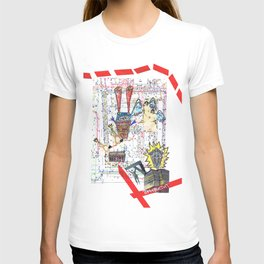 Crazy city map (collage) T-shirt