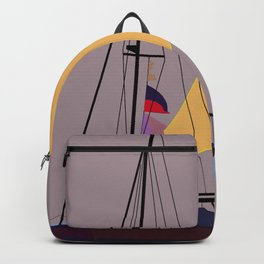 Boat in the middle of the night Backpack