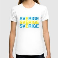 sweden T-shirts featuring SWEDEN by eyesblau