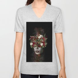 Flower lady Unisex V-Neck