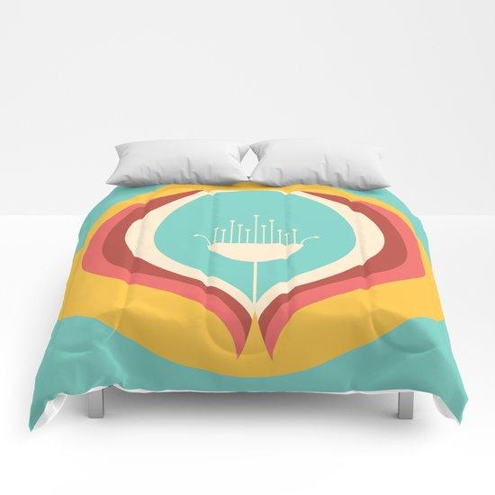 50's floral pattern V Comforters