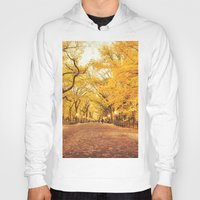 literary Hoodies featuring New York City Autumn by Vivienne Gucwa