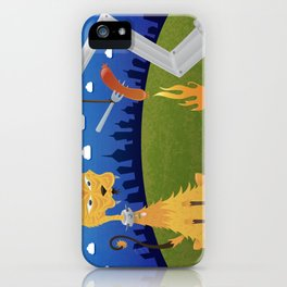 Tatos the Winnie Eating Alley Cat. iPhone Case