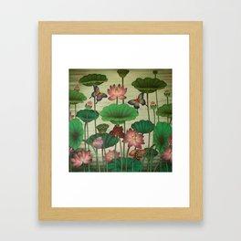 Lotus Painting Framed Art Print