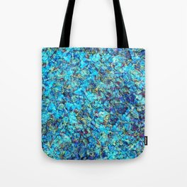 Turquoise Pebble Pool Ripple Tote Bag